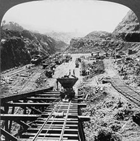 Work on the Panama Canel Begins