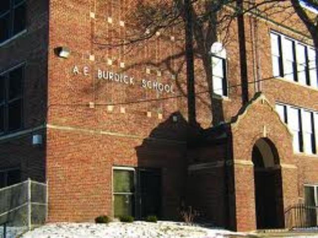 First Day at A. E. Burdick School