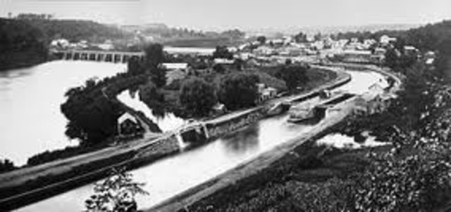 The completion of the Erie Canal