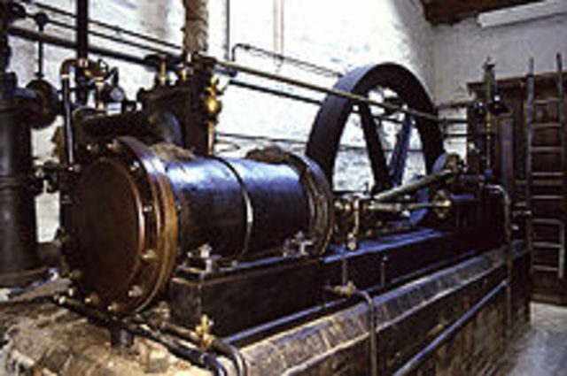 1st Steam engine in America was installed to pump water from a mine