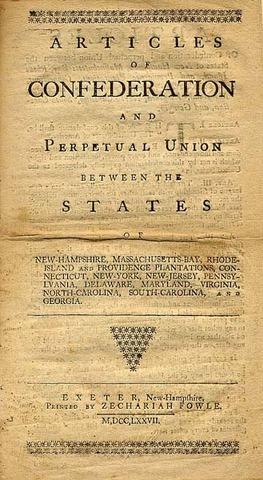 Article of Confederations