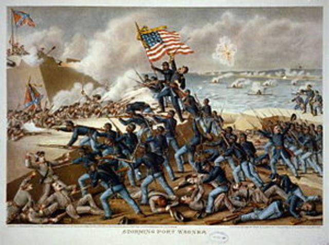 Battle at fort wagner