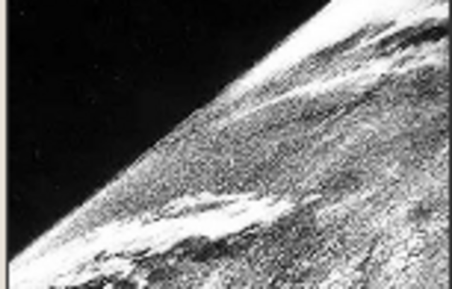 The first photo was taken was taken from space.