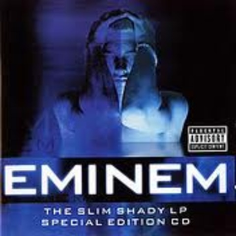 Eminem quickly gained popularity in 1999 with his major-label debut album, The Slim Shady LP.