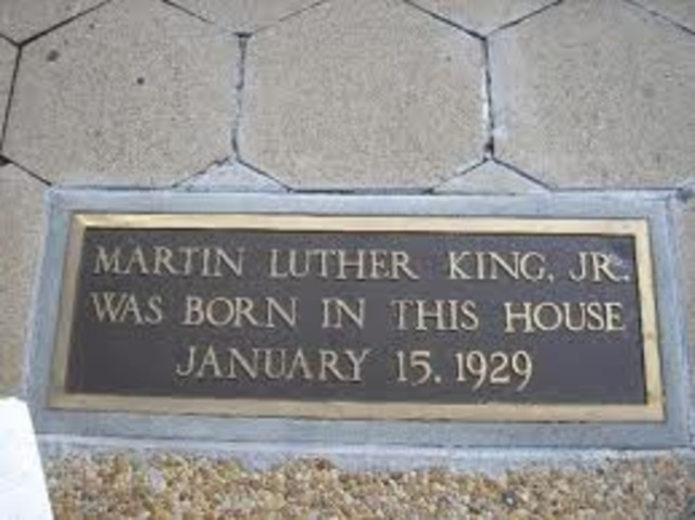 Birth of Martin Luther King Jr.
