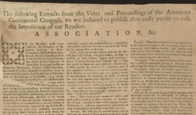 Articles of Association, 1774
