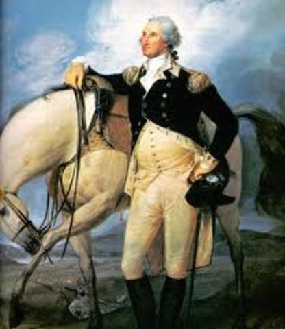 George Washington became Chief Comander