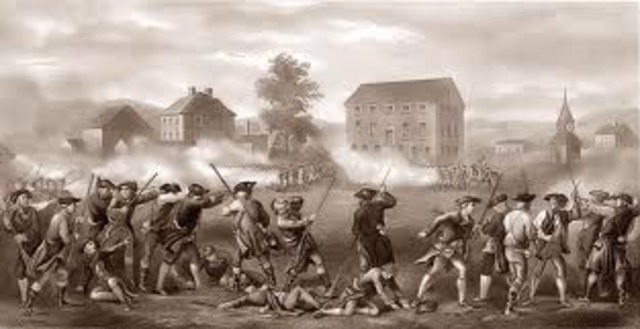 The battle of Lexington and Concord