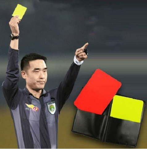 Red & Yellow cards were introduced
