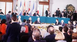 La negociaciones para los Acuerdos de Paz en El Salvador timeline