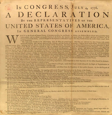 Congress Adopts the Declaration of Independence