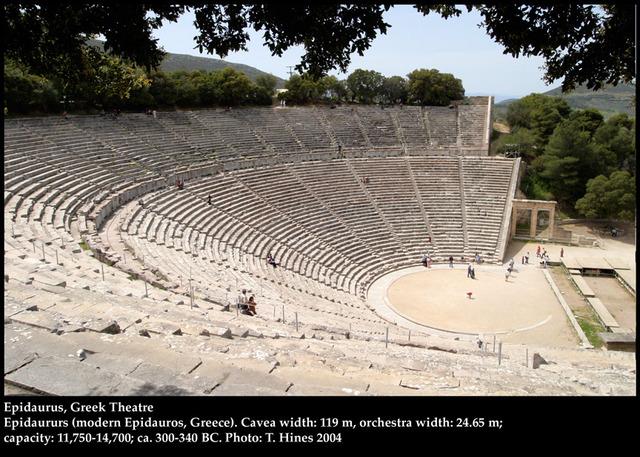 340 B.C.E. Epidaurus theatre