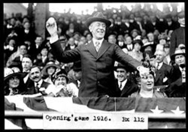 Wilson First President to pitch in World Series