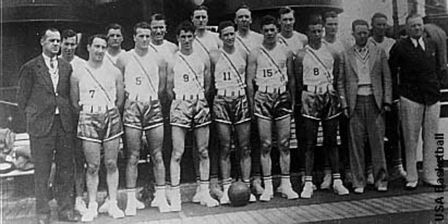 Basketball was Played in the Olympics