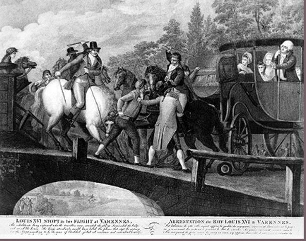Louis XVI and Marie attempt escape