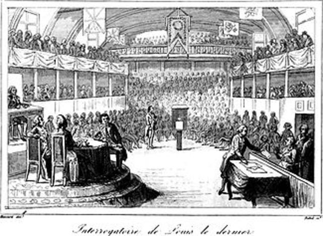 Louis XVI is brought to trial