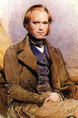 Charles Darwin first theory published