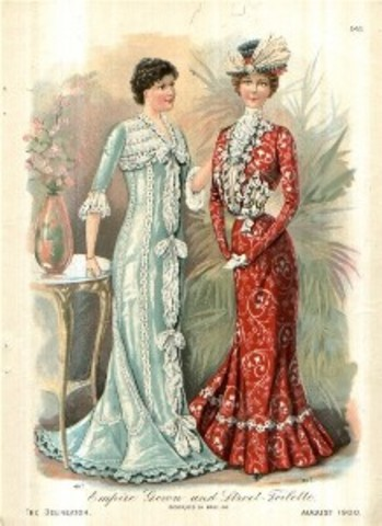 1900 Fashion Usually Long Dresess and lots of colours