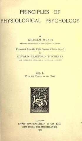 Wilhelm Wundt publishes Principles of Physiological Psychology
