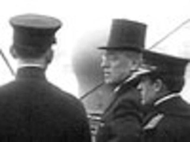 Woodrow Wilson sets sail for the Paris Peace conference.