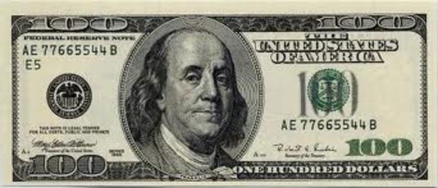 First $100 dollar bill