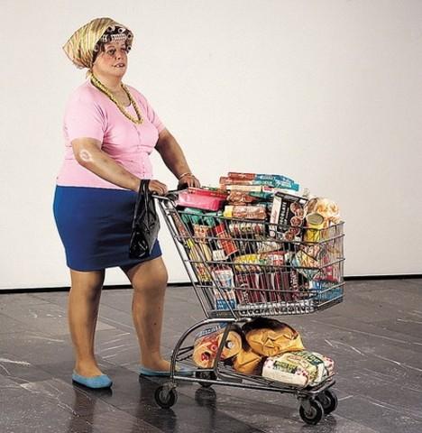 Lady in Supermarket, Duane Hanson, 1969
