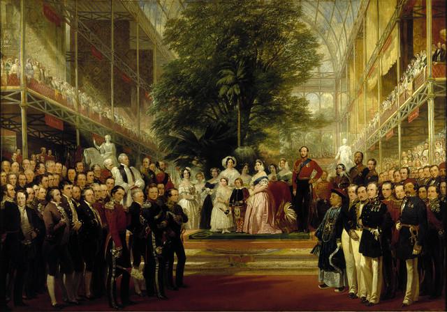 """L'inauguration du Crystal palace"", H.Courtney, 1851-52"
