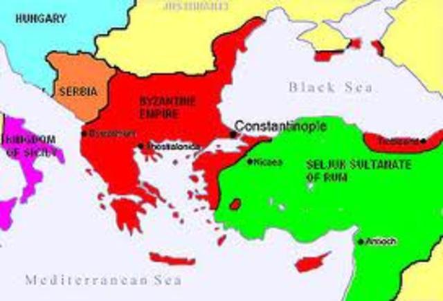 Byzantine empire at it's establishment