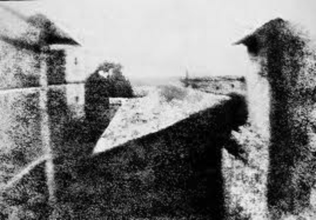 First photograph: view from the window.