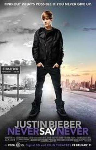 "Justin bieber movie ""Never Say Never"" comes out"