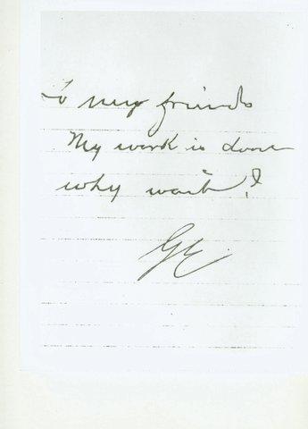 George Eastman dies
