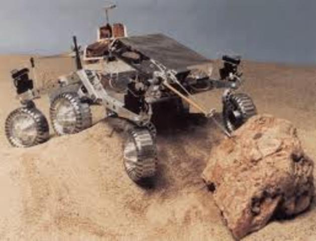 Pathfinder Probe Landing on Mars
