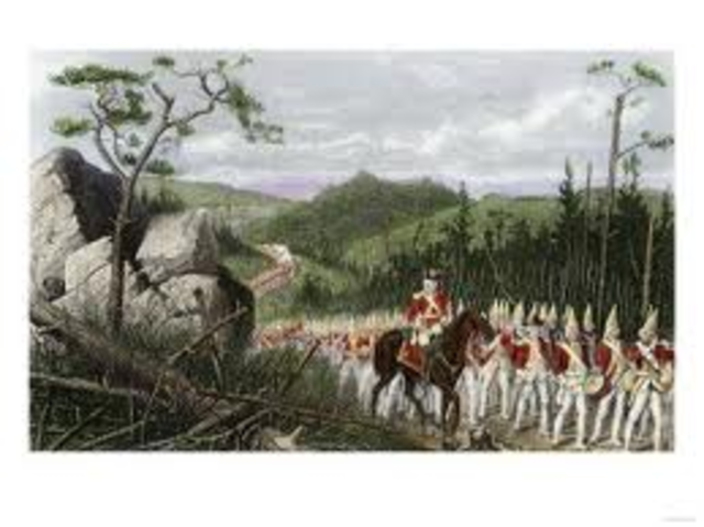 French troops defeat General Bradock .