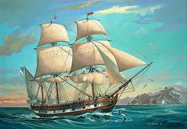 Comienza su viaje en el HMS Beagle