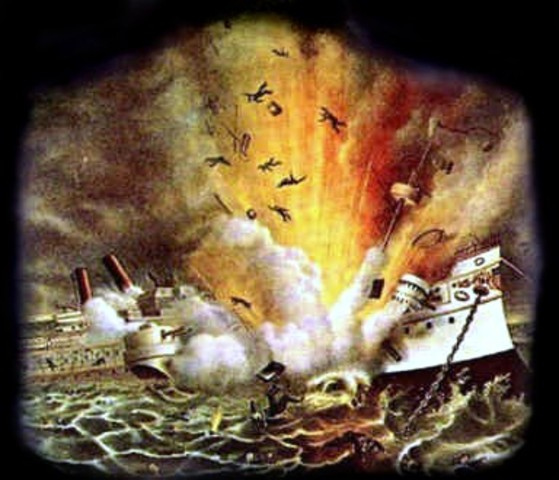 The explosion of the U.S.S Maine