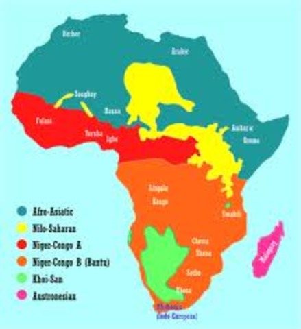 European Nations divide Central and West Africa