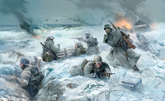 Germans attack Moscow