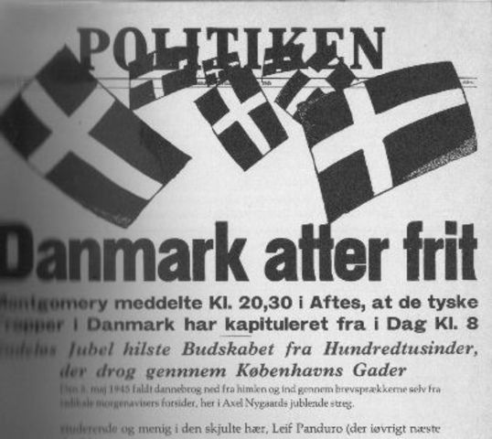 German forces in Holland, Denmark and N W Germany surrender