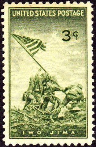 US raising the flag at Ivo Jima