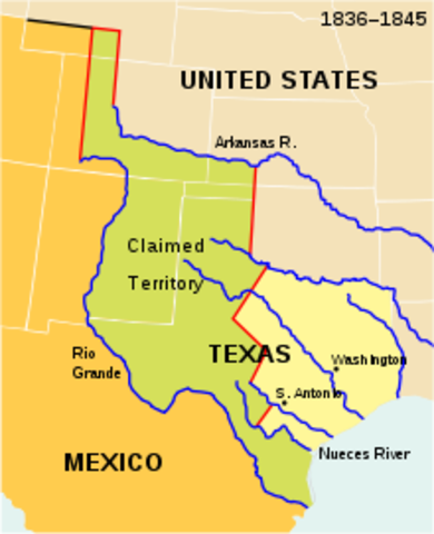 U.S. annexed Texas