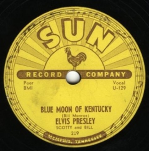 Elvis releases his first record