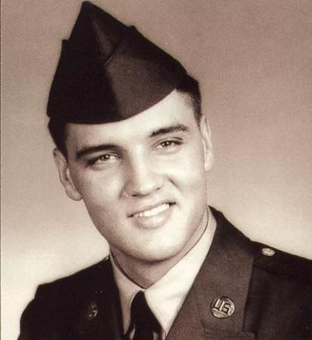 Elvis got inducted into the army