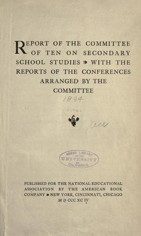 Committee of Ten Report