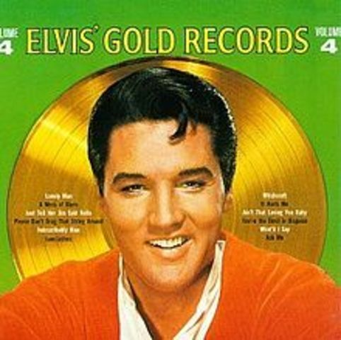 Elvis releases his fifth gold record