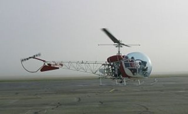 Bell Industries invented the first helicopter for civillian use