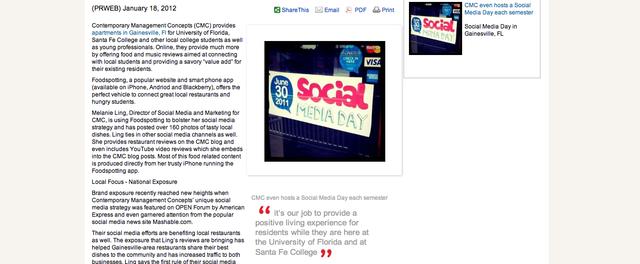 CMC on Yahoo! News and PR Web