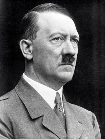 Adolf Hitler the leader of Germany