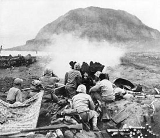 The battle of Iwo Jima started