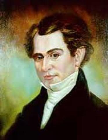 Stephen Austin Meets with Mexican President Santa Anna