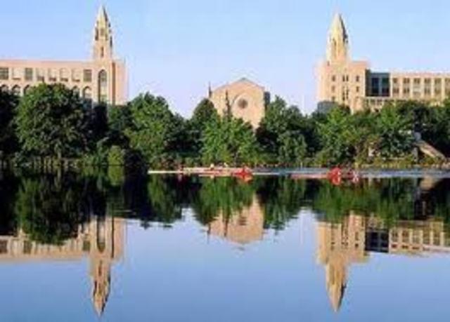 Enters Boston University
